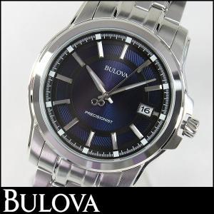 Bulova ブローバ Precisionist プレシジョニスト 腕時計 メンズ ウォッチ 96B159 ブルー 青 ネイビー シルバー 並行輸入品|tokeiten