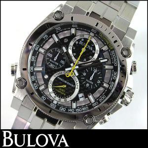 Bulova ブローバ 腕時計 メンズ ウォッチ クロノグラフ 96B175 黒 ブラック シルバー 並行輸入品|tokeiten