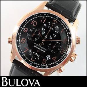 Bulova ブローバ 腕時計 メンズ ウォッチ97B122 レザーバンド ブラック 黒 並行輸入品|tokeiten
