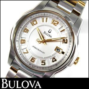 Bulova ブローバ Precisionist プレシジョニスト 腕時計 メンズ ウォッチ 98B140 シルバー ゴールド 並行輸入品|tokeiten