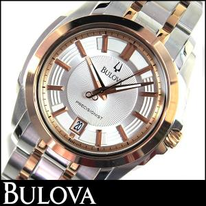 Bulova ブローバ 98B141 Precisionist プレシジョニストメンズ ウォッチ 腕時計 シルバー ローズゴールド 並行輸入品|tokeiten