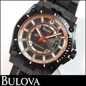Bulova ブローバ 腕時計 メンズ ウォッチ 98B143 ローズゴールド ブラック 黒 並行輸入品|tokeiten