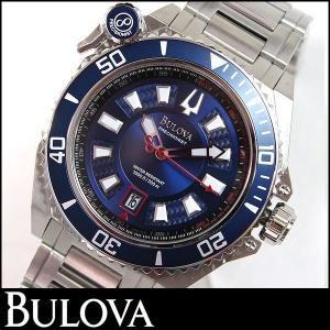 Bulova ブローバ 腕時計 メンズ ウォッチ 98B168 ブルー 青 シルバー 並行輸入品|tokeiten