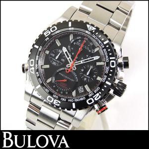 Bulova ブローバ 98B212 Precisionist プレシジョニスト クロノグラフ メンズ ウォッチ シルバー ブラック 腕時計 並行輸入品|tokeiten