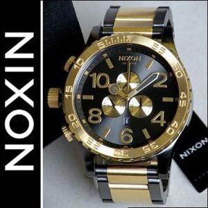 ニクソン NIXON 腕時計 メンズ THE 51-30 クロノグラフ A083595 A083595 ブラック×ゴールド ダイバーズウォッチ|tokeiten