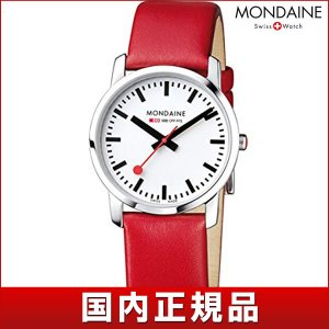 ポイント最大26倍 MONDAINE モンディーン A400.30351.11SBC SLIM スリム レディース 女性用 腕時計 白 ホワイト 赤 レッド 革バンド レザー tokeiten