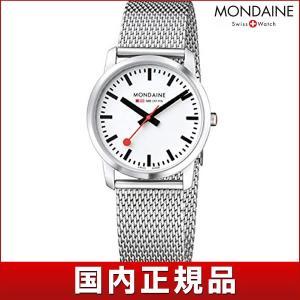 ポイント最大26倍 MONDAINE モンディーン A400.30351.16SBM 国内正規品 SLIM スリム 36mm メンズ 男性用 腕時計 白 ホワイト 赤 レッド シルバー tokeiten