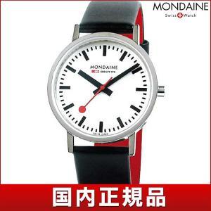 ストアポイント10倍 MONDAINE モンディーン A660.30314.11SBB New Classic ニュークラシック メンズ 男性用 腕時計 黒 ブラック 白 ホワイト 赤 レッド tokeiten