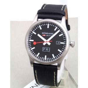 ポイント最大26倍 MONDAINE モンディーン スポーツライン デイデイトA667.30308.19SBB 黒 ブラック メンズ 腕時計 時計 国内正規品 tokeiten