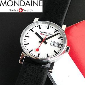 ポイント最大26倍 MONDAINE モンディーン エヴォ ビックデイトA669.30305.11SBB レディース 腕時計 スイス国鉄鉄道時計 ブラック 黒 国内正規品 tokeiten