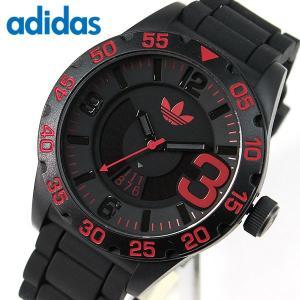 アディダス adidas ニューバーグ NEWBURGH メンズ 黒 赤 腕時計 時計 防水 ブラック レッド  ADH2965 海外モデル カレンダー|tokeiten