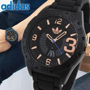 adidas アディダス オリジナルス NEWBURGH ニューバーグ メンズ 腕時計 防水 ADH3082 黒 ブラック 金 ローズゴールド ピンクゴールド カジュアル tokeiten