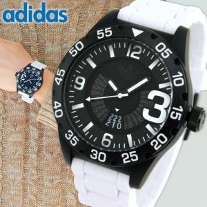 adidas アディダス オリジナルス NEWBURGH ニューバーグ 黒 白 メンズ 腕時計 防水 ブラック ホワイト カジュアル シリコン バンド ADH3136|tokeiten