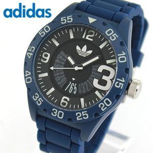 adidas アディダス originals オリジナルス NEWBURGH ニューバーグ メンズ 男性用 腕時計 防水 黒 ブラック 青 ブルー カジュアル シリコン バンド ADH3141|tokeiten
