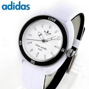 adidas アディダス STAN SMITH  スタンスミス 黒 白 レディース 腕時計 防水 ウォッチ ブラック ホワイト ADH3187 海外モデル シリコン ラバー ランニング|tokeiten