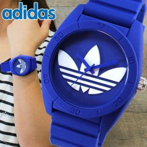 ポイント10倍 アディダス adidas サンティアゴ SANTIAGO 時計 腕時計 レディース メンズ ブルー 青 防水 ランニング ADH6169 tokeiten