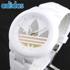 adidas アディダス ADH9084 海外モデル ABERDEEN アバディーン メンズ レディース 腕時計 男女兼用 ユニセックス 白 ホワイト ピンクゴールド シルバー|tokeiten