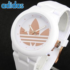 6ce4bd81d5 adidas アディダス ADH9085 ABERDEEN アバディーン レディース 腕時計 白 ホワイト 金 ローズゴールド  ピンクゴールド|tokeiten ...