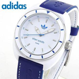 adidas アディダス stan smith スタンスミス 白 青 メンズ レディース 腕時計 防水 男女兼用 ユニセックス ホワイト ブルー ADH9087海外モデル|tokeiten