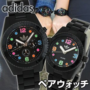 adidas アディダス ADH2946 ADH2943 ペアウォッチ ブランド メンズ レディース 腕時計 黒 ブラック マルチカラー 秋 コーデ 誕生日 ギフト|tokeiten