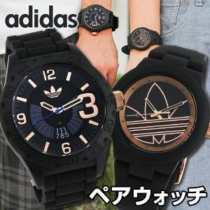 adidas アディダス ADH3082 ADH3086 海外モデル ペアウォッチ ブランド アナログ メンズ レディース 腕時計 ブラック ピンクゴールド ローズゴールド ラバー|tokeiten