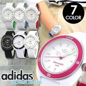 BOX訳あり adidas アディダス STAN SMITH スタンスミス 黒 白 レディース 腕時計 防水 ブラック ホワイト ブルー レッド グリーン ピンク ADH3122 ADH3123|tokeiten