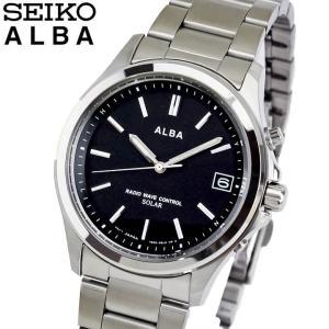 ポイント最大23倍 レビュー7年保証 SEIKO セイコー ALBA アルバ 電波ソーラー AEFY502 国内正規品 メンズ 腕時計 ブラック シルバー メタル バンド|tokeiten