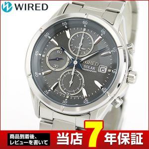 ストアポイント10倍 レビュー7年保証 SEIKO セイコー WIRED ワイアード ソーラー AGAD084 国内正規品 メンズ 腕時計 銀 シルバー グレー メタル バンド tokeiten