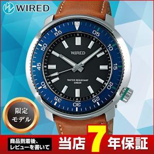 25日から最大31倍 WIRED ワイアード SEIKO セイコー AGAJ701 SOLIDITY ソリディティ 限定モデル メンズ 腕時計 国内正規品 ブラック ブルー レザー|tokeiten