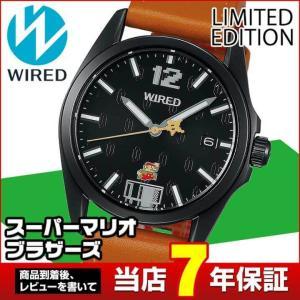 WIRED ×スーパーマリオブラザーズ限定モデル ワイアード SEIKO セイコー AGAK702 限定モデル メンズ 腕時計 国内正規品  革ベルト tokeiten