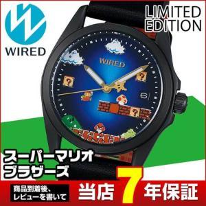 WIRED ×スーパーマリオブラザーズ限定モデル ワイアード SEIKO セイコー AGAK703 限定モデル メンズ 腕時計 国内正規品 革ベルト tokeiten