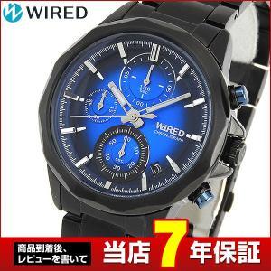 ポイント最大26倍 セイコー ワイアード 腕時計 SEIKO WIRED THE BLUE ザ・ブルー クロノグラフ メンズ AGAT408 国内正規品 ブラック ブルー|tokeiten