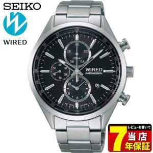 ポイント最大26倍 7年保証 セイコー ワイアード 腕時計 SEIKO WIRED NEW STANDARD ニュースタンダード クロノグラフ AGAV109 メンズ ブラック 国内正規品|tokeiten