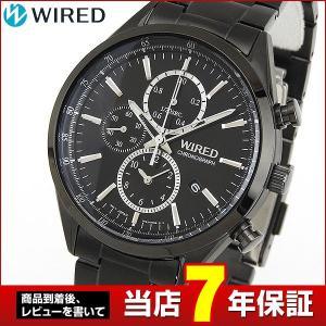 ポイント最大26倍 レビュー7年保証 SEIKO セイコー WIRED ワイアード クオーツ クロノグラフ AGAV119 国内正規品 メンズ 腕時計 黒 ブラック メタル|tokeiten