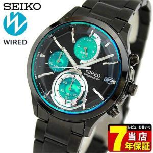22日から最大42倍 セイコー ワイアード 腕時計 SEIKO WIRED REFLECTION リフレクション クロノグラフ メンズ AGAV121 国内正規品 ブラック ライトブルー tokeiten