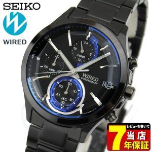 5c7edb739d セイコー ワイアード 腕時計 SEIKO WIRED REFLECTION リフレクション クロノグラフ AGAV122 国内正規品 メンズ ブラック  ブルー ...