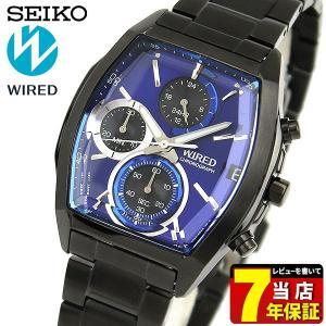b384a90cae セイコー ワイアード 腕時計 SEIKO WIRED REFLECTION リフレクション クロノグラフ メンズ AGAV125 国内正規品ブラック  青 ...