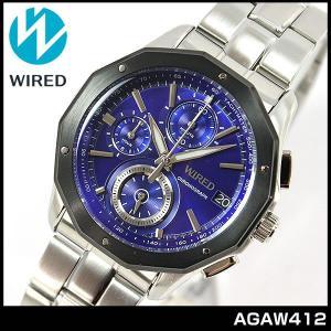 ポイント最大26倍 SEIKO セイコー WIRED ワイアード THE BLUE ザ・ブルー AGAW412 メンズ腕時計 時計ウォッチ クロノグラフ|tokeiten