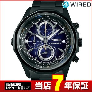 ポイント最大26倍 レビュー7年保証 セイコー ワイアード 腕時計 SEIKO WIRED THE BLUE ザ・ブルー クロノグラフ メンズ 黒 ブラック 青 ネイビー AGAW438|tokeiten