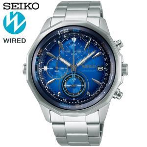 ポイント最大26倍 レビュー7年保証 セイコー ワイアード 腕時計 SEIKO WIRED THE BLUE ザ・ブルー クロノグラフ メンズ シルバー 青 ブルー AGAW439|tokeiten