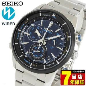22日から最大42倍 レビュー7年保証 SEIKO セイコー WIRED ワイアード AGAW441 国内正規品 メンズ 腕時計 黒 ブラック 青 ブルー メタル tokeiten