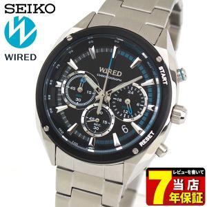 ポイント最大26倍 セイコー ワイアード 腕時計 SEIKO WIRED SOLIDITY ソリディティ クロノグラフ メンズ AGAW443 国内正規品 ブラック|tokeiten
