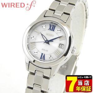 ポイント最大27倍 レビュー7年保証 SEIKO セイコー WIREDf ワイアードエフ ソーラー AGED078 国内正規品 レディース 腕時計 銀 シルバー ブルー メタル tokeiten