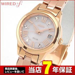 ポイント最大26倍 レビュー7年保証 SEIKO セイコー WIREDf ワイアードエフ ソーラー AGED080 国内正規品 レディース 腕時計 ピンクゴールド メタル tokeiten