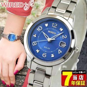ポイント最大27倍 レビュー7年保証 SEIKO セイコー WIREDf ワイアードエフ ソーラー AGED081 国内正規品 レディース 腕時計 青 ブルー 銀 シルバー メタル tokeiten