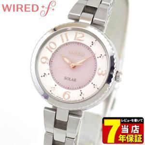 ポイント最大35倍 SEIKO セイコー WIREDf ワイアードエフ ソーラー AGED085 国内正規品 レディース 腕時計 ピンク 銀 シルバー メタル バンド|tokeiten