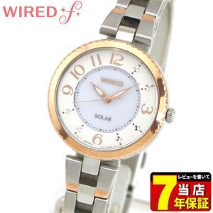 ポイント最大35倍 SEIKO セイコー WIREDf ワイアードエフ ソーラー AGED087 国内正規品 レディース 腕時計 ピンクゴールド シルバー メタル|tokeiten