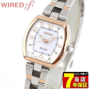 ポイント最大35倍 SEIKO セイコー WIREDf ワイアードエフ ソーラー AGED090 国内正規品 レディース 腕時計 ピンクゴールド シルバー メタル|tokeiten