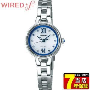 ポイント最大35倍 WIREDf ワイアードf SEIKO セイコー ソーラー AGED092 ソーラーコレクション レディース 腕時計 国内正規品 ブルー シルバー メタル|tokeiten