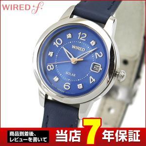 ポイント最大35倍 レビュー7年保証 SEIKO セイコー WIREDf ワイアードエフ ソーラー AGED712 国内正規品 レディース 腕時計 ブルー ネイビー 革 レザー|tokeiten